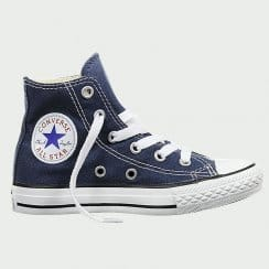 Junior Navy All Star Hi Top Sneaker Boot Unisex