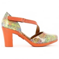 Art Womens Rio Heeled Sandals - 0278 - Orange/Multi