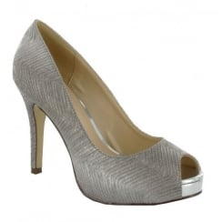 PacoMena by Menbur Cabriel Silver Pointed Court Heels