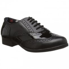 Kada School Shoe - Leather and Patent Brogue