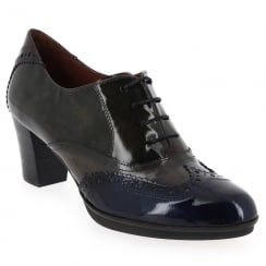CHI60585 - Hispanitas Grey Navy Heel Brogue