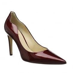 Hogl Womens Red Patent Leather High Stiletto Pointed Court