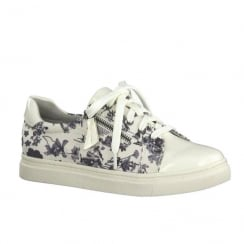Soft Line White Flower Womens Trainers