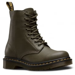 Dr Martens Womens Pascal Grenade Green Ankle Boots