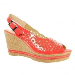 Adesso Womens Tess Coral Wedge Heeled Slingback Sandals - A4237