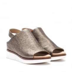 Unisa BARITEL Pewter Slip On Mule Wedge Sandals