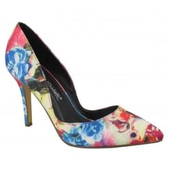 Anne Michelle Multi Coloured Pointed Court Shoe