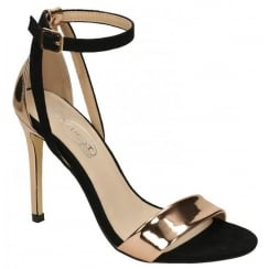 Anne Michelle Rose Gold Strappy Sandal