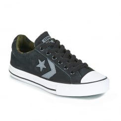 Converse Youth Star Player Suede Ox Boys Trainer - Black