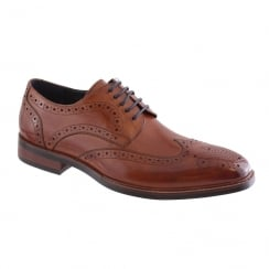 Morgan & Co Men's Tan/Navy Leather Shoe