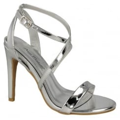 Anne Michelle Cross Strap Sandal - Silver