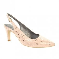 Capollini Womens Erin Slingback Pointed Heels - Rose Gold D613