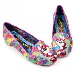 Irregular Choice Loosen The Reins Flats - Pink