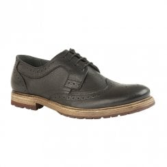 Lotus Mens Heslington Heeled Lace Up Shoes - Black