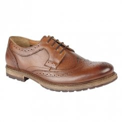 Lotus Mens Heslington Heeled Lace Up Shoes - Cognac