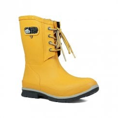 Bogs - Amanda Plush Mustard Mid Lace Wellies