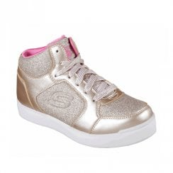 Skechers Girls Energy Lights: E-Pro Glitter Glow Trainers - Gold