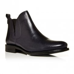 Moda In Pelle Ametti Navy Leather Chelsea Ankle Boots
