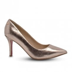 Kate Appleby Millom Medium Heeled Court Shoes - Champagne Gold