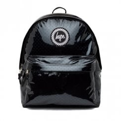 Hype Black Metallic Polka Backpack