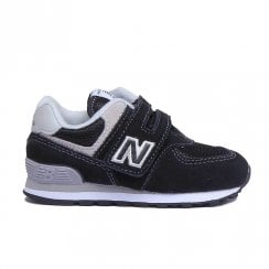 New Balance Infant 574 Core Velcro Sneakers - Navy/Grey