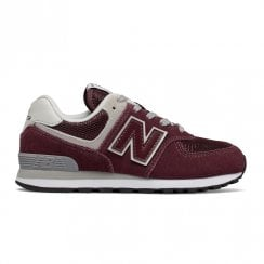 New Balance Kids 574 Lace Up Sneakers - Burgundy/Grey