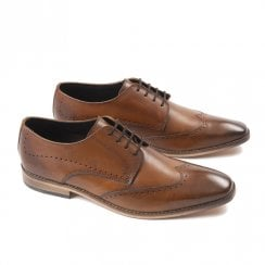 Ikon Mens Howard Smart Brogue Shoes - Spice Tan