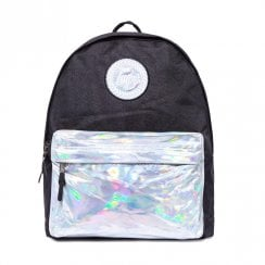 072eae50c2ad Hype Holo Silver Pocket 18 L Black Backpack