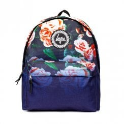 Hype Multi Navy Floral Fade Backpack