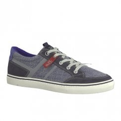 S.Oliver Mens Denim Casual Laced Shoes - Blue