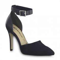 4a1b9b53 Tamaris Elegant High Heeled Ankle Strap Court Shoes - Navy ...