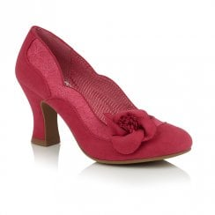 Ruby Shoo Veronica Slip On Court Shoes - Pink Fuchsia