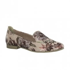 Marco Tozzi Elegant Slip On Loafers - Rose Flower