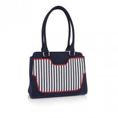 Ruby Shoo Tunis Clutch Handbag - Navy Stripe