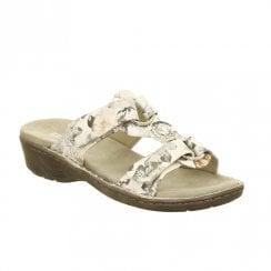 fd78337e3fb55 Ara Korsika Velcro Slip On Comfort Mule Sandals - White Flower ...
