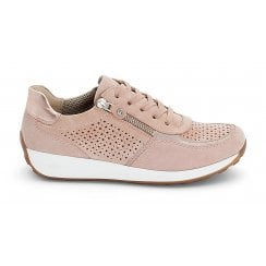 Ara Lace Up & Zip Trainer Shoes - Nude pink