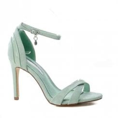 XTI Ankle Buckle Strap High Heeled Sandals - Pale Turquoise