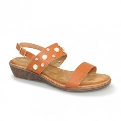 Lunar Avery Low Wedged Sandals - Tan
