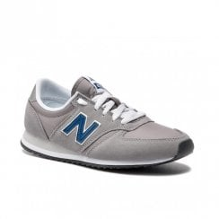 New Balance Men's Running Style 420 Suede Sneakers - Grey/Blue