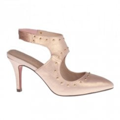 Kate Appleby Maddenhall Slingback Heeled Pointed Sandals - Pink Shimmer