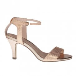 Kate Appleby Yarmouth Dressy Mid Heel Sandals - Gold Shimmer