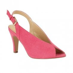 Lotus Akiko Microfibre Peep Toe  Sling-Back Court Shoes - Fuchsia