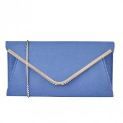 Lotus Sommerton Microfibre Envelope Clutch Bag - Blue