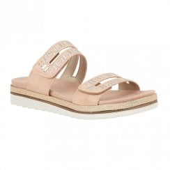 Lotus Halley Slip On Open Flat Sandals - Pink