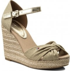 Tommy Hilfiger Metallic Elena Wedge Sandals - Dessert Sand