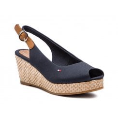 Tommy Hilfiger Elba Wedge Sandals - Midnight Navy