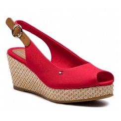 Tommy Hilfiger Elba Wedge Sandals - Tango Red