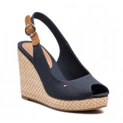 Tommy Hilfiger Elena Wedge Sandals - Midnight Navy