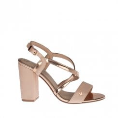 Una Healy I Can't Wait Rouge Gem Block Heeled Sandals - Rose gold