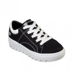 ea3ca28bfdf Skechers Womens Street Cleat Bring It Back Sneakers - Black